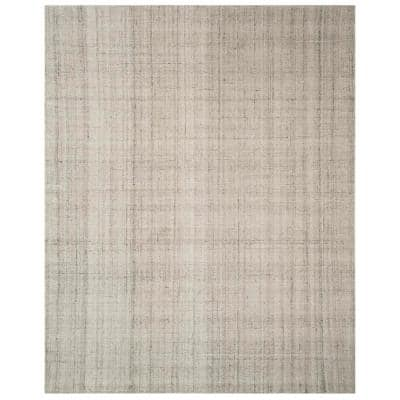 Abstract Light Gray 8 ft. x 10 ft. Solid Area Rug