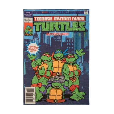 Teenage Mutant Ninja Turtles Multi-Colored 5 ft. x 7 ft. Indoor Juvenile Area Rug