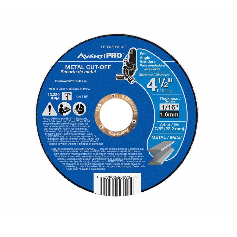 4-1/2 in. x 1/16 in. x 7/8 in. Thin Kerf Metal Cut-Off Disc (15-Pack)