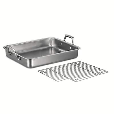 Gourmet Prima 6.75 Qt. Stainless Steel Roasting Pan