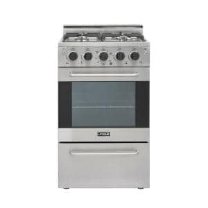 Prestige 20 in. 1.6 cu. ft. Gas Convection Range Sealed 4-Burners in Stainless Steel