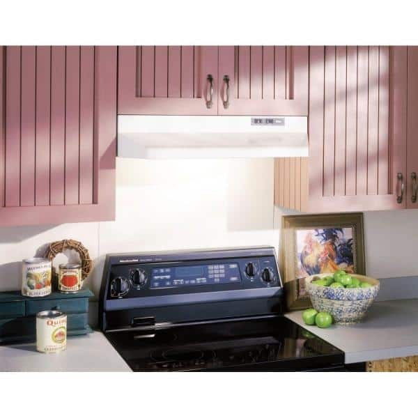 Broan Nutone 42000 Series 36 In Under Cabinet Range Hood With Light In White 423601 The Home Depot