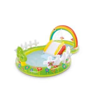 Green Colorful Plastic Inflatable My Garden Water Filled Play Center with Slide