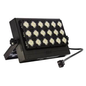Sansi 100 Watt Black Rgb Color Changing Outdoor Integrated Led Ip66 Waterproof Panel Flood Light With Remote Control 01 06 001 021018 The Home Depot