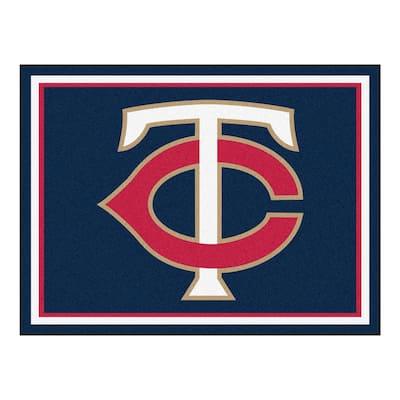 MLB Minnesota Twins Navy Blue 8 ft. x 10 ft. Indoor Area Rug