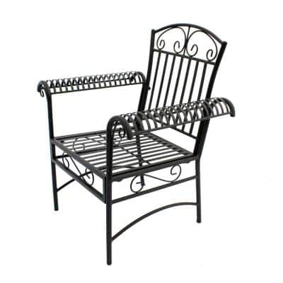 French Quarter Steel Outdoor Dining Chair (2-Pack)