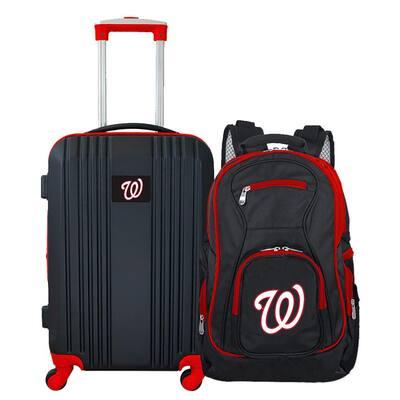 MLB Washington Nationals 2-Piece Set Luggage and Backpack