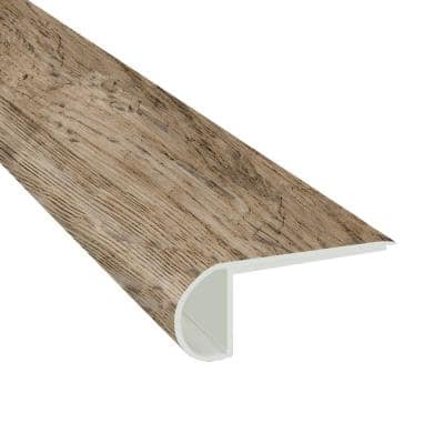 Rustic Pecan 0.75 in. Thick x 2.75 in. Wide x 94 in. Length Luxury Vinyl Flush StairNose Molding