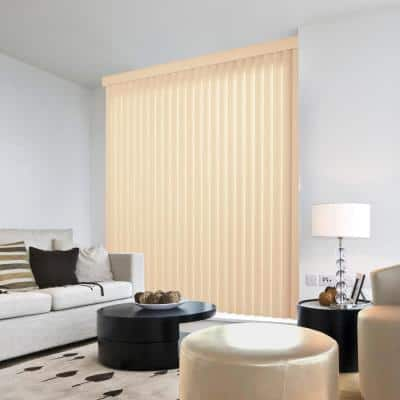 Crown Ivory Room Darkening Vertical Blind for Sliding Door or Window - Louver Size 3.5 in. W x 66 in. L(9-Pack)