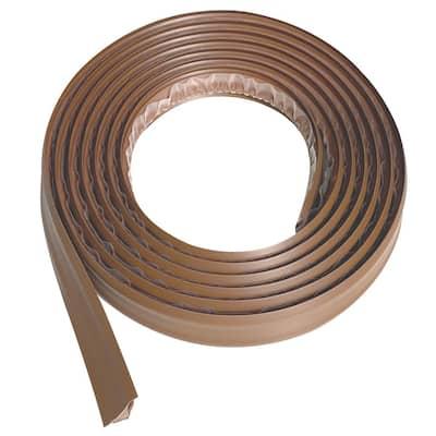 3/4 in. x 10 ft. Light Brown PVC Inside Corner Self-Adhesive Flexible Caulk and Trim Molding