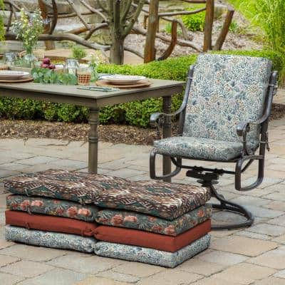 20 in. x 24 in. Pistachio Botanical Outdoor Chair Cushion
