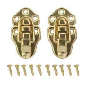 2-3/4 in. x 1-1/2 in. Bright Brass Chest Latches