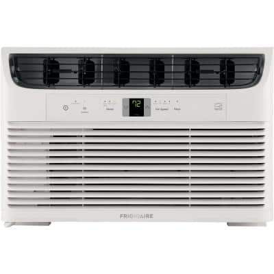 8,000 BTU Window-Mounted Room Air Conditioner in White with Wi-Fi