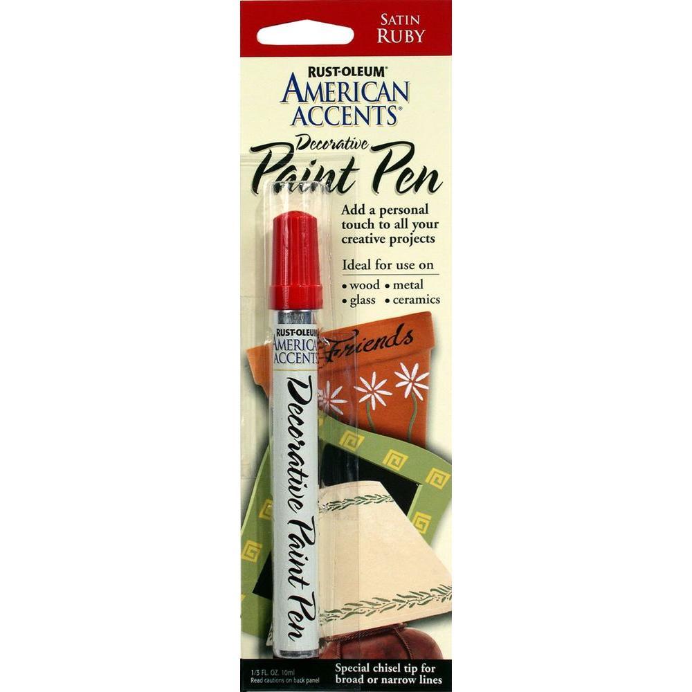 Satin Ruby Decorative Paint Pen (6-Pack)