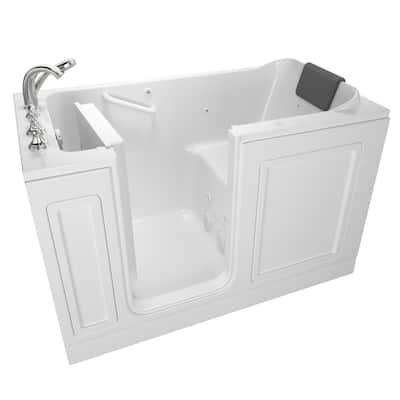 Acrylic Luxury 60 in. Left Hand Walk-In Whirlpool in White