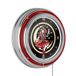 14 in. Miller High Life Girl in the Moon Vintage Neon Wall Clock
