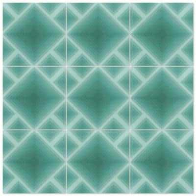 Jibe Nile Blue Ombre 8 in. x 8 in. Cement Handmade Floor and Wall Tile (Box of 16/ 6.96 sq. ft.)
