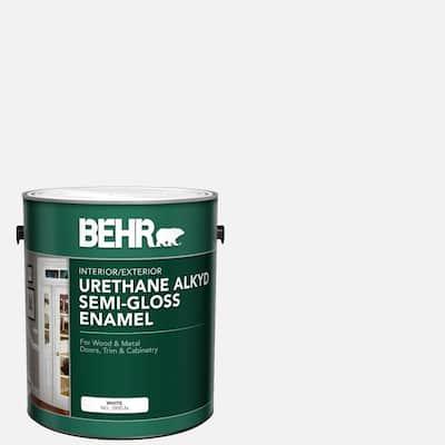 1 gal. White Urethane Alkyd Semi-Gloss Enamel Interior/Exterior Paint