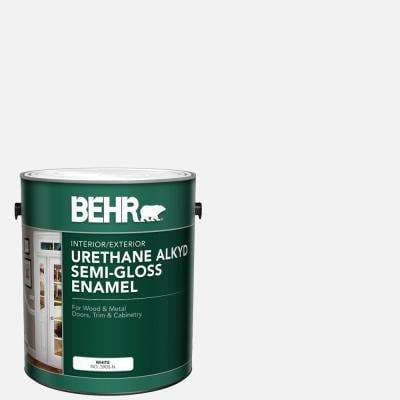 1 gal. White Urethane Alkyd Semi-Gloss Enamel Interior/Exterior Paint