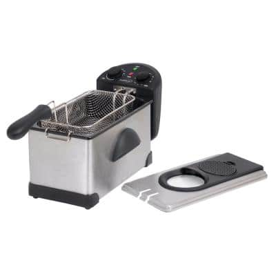 3.2 Qt. Stainless Steel Deep Fryer with Fry Basket