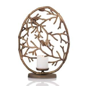 Twig Large Round Pillar Candle Holder