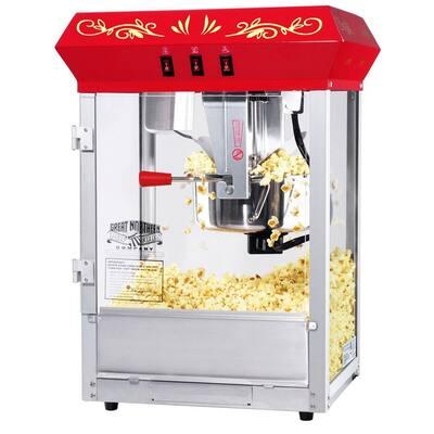 All-Star 8 oz. Red Hot Oil Countertop Popcorn Machine