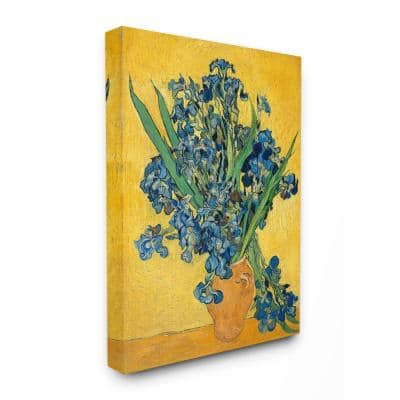 """36 in. x 48 in. """"Van Gogh Irises Post Impressionist Painting"""" by Vincent Van Gogh Canvas Wall Art"""