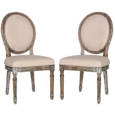 Holloway Beige Linen Dining Chair (Set of 2)