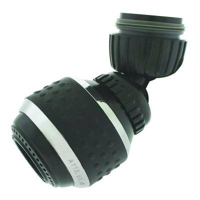 1.5 GPM Soft Grip Water-Saving Swivel Spray Aerator, Black