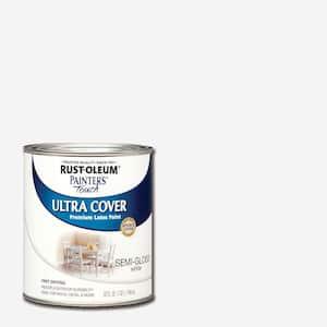 32 oz. Ultra Cover Semi-Gloss White General Purpose Paint
