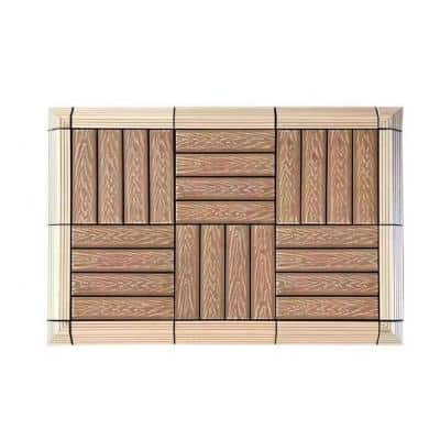 MI Premier 1 ft. x 1 ft. Interlocking Composite Deck Tile in Oak (10 Tiles per Case)