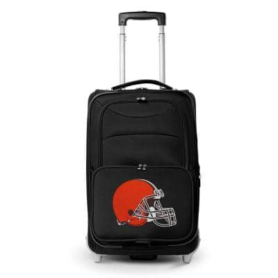 NFL Cleveland Browns 21 in. Black Carry-On Rolling Softside Suitcase