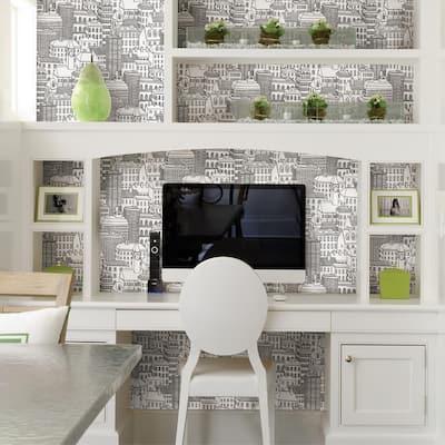Limelight White City White Wallpaper Sample
