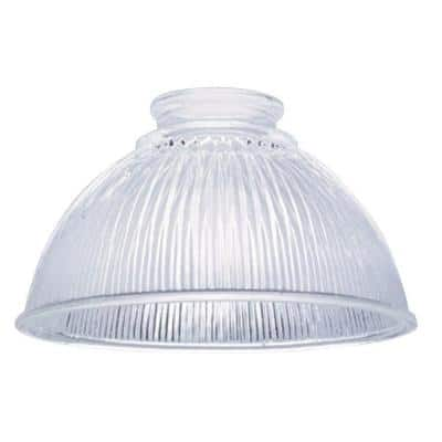 3-3/4 in. Clear Prismatic Shade with 2-1/4 in. Fitter and 6-1/2 in. Width