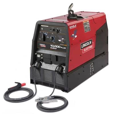 225 Amp Eagle 10,000 Plus Gas Engine Driven Welder w/Stick Leads, Multi-Process, 10.5 kW Peak Generator (Kohler)