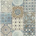 Moroccan Tile Blue Geometric Vinyl Peel & Stick Wallpaper Roll (Covers 30.75 Sq. Ft.)