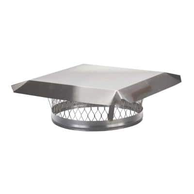 13 in. Round Clamp-On Single Flue Liner Chimney Cap in Stainless Steel