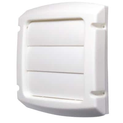 4 in. Louvered Vent Cap in White