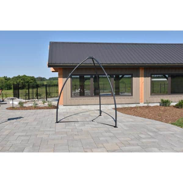 Vivere 8 5 Ft Tripod Steel Frame Outdoor Hammock Chair Stand In Black Tpod The Home Depot