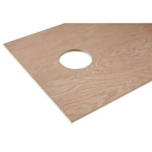 1/2 in. x 2 ft. x 4 ft. Red Oak Plywood Corn Hole Board Top