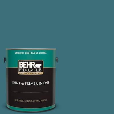 1 gal. #S450-6 Tornado Season Semi-Gloss Enamel Exterior Paint and Primer in One