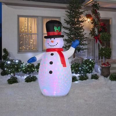 6.5 ft Pre-Lit LED Projection Snowman Christmas Inflatable