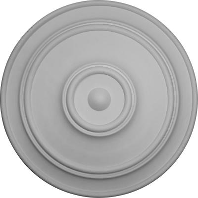 """54"""" x 4-7/8"""" Large Classic Urethane Ceiling Medallion (Fits Canopies up to 13-1/2""""), Primed White"""