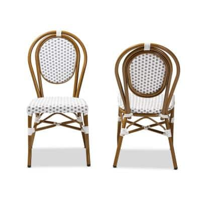 Gauthier Gray and White Dining Chair (Set of 2)
