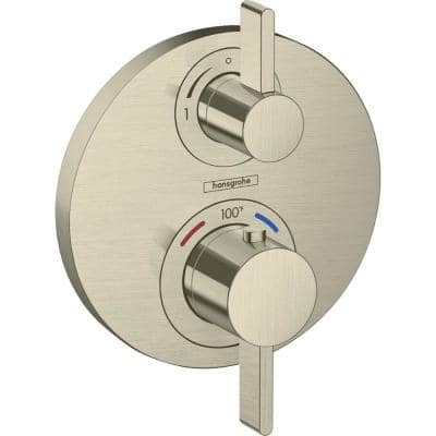 Ecostat S 2-Handle Shower Trim Kit in Brushed Nickel Valve Not Included