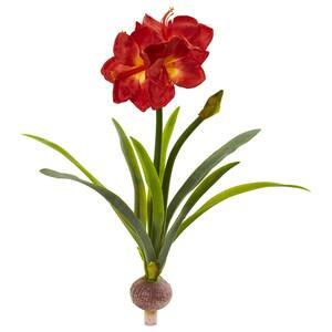 Indoor 31 in. Amaryllis Artificial Flower (Set of 3)