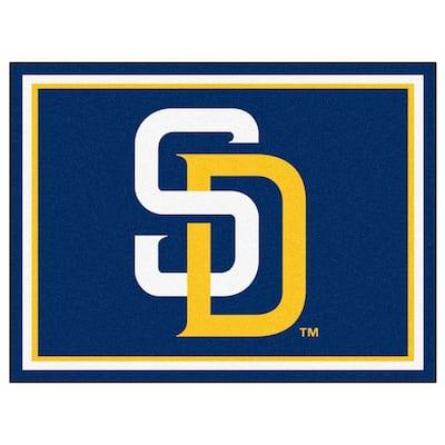 MLB San Diego Padres Navy Blue 8 ft. x 10 ft. Indoor Area Rug