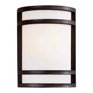 Bay View 1-Light Oil-Rubbed Bronze Outdoor Wall Lantern Sconce