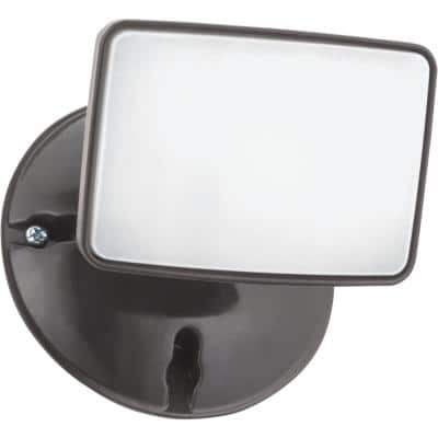 Contractor Select OVFL 75-Watt Equivalent 13-Watt Bronze Outdoor Integrated LED 1-Square Head Flood Light