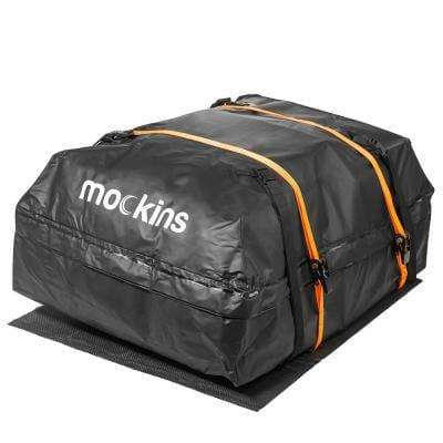 44 in. x 34 in.x 18 in. Waterproof Cargo Roof Bag Set, 15 cu. ft. of Dry Storage Space, Car Roof Mat & 2 Ratchet Strap
